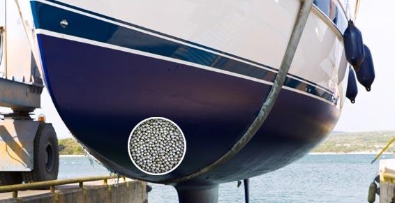Gegengewichten für die Kiele von Segelschiffen